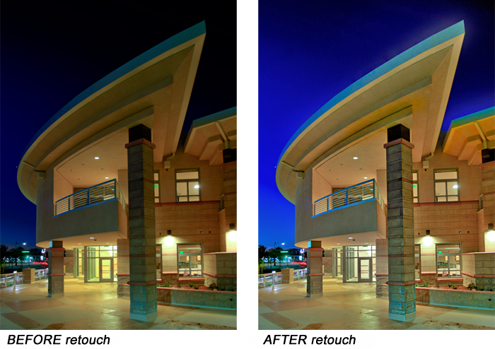 Example photo retouch for architecture. Gwenn Jones