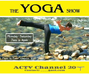 Local TV channel teaser for Yoga Show Auburn CA